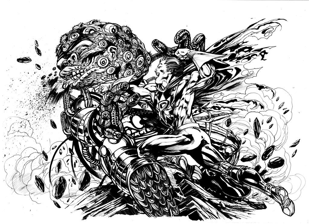 Arte Convidada: Versus O Monstro Multi-Olhos, por Ignacio Calero